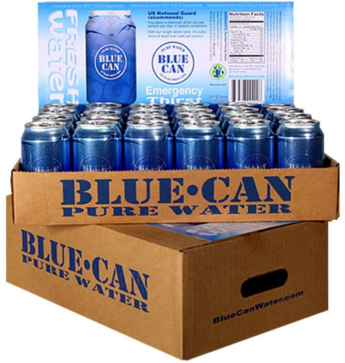 Blue Can Premium Emergency Drinking Water - 48 Pack