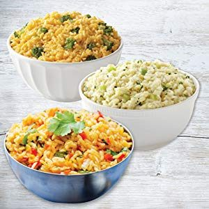 Cheesy Broccoli Rice, Spanish Rice and Creamy Chicken Flavored Rice