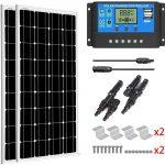 SUNGOLDPOWER 200 Watt 12V Monocrystalline Solar Panel Module Kit