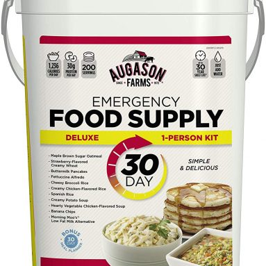 Augason Farms Emergency 30-Day Food Supply (1 Person), 200 Servings, 36,600 Calories