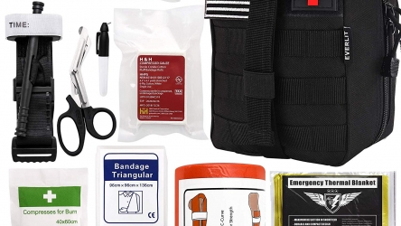 Everlit Emergency Survival Trauma Kit with Tourniquet