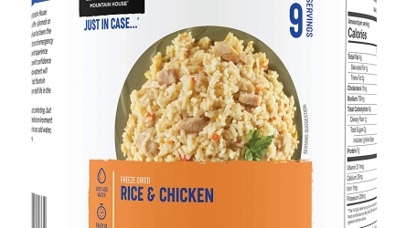 Mountain House Rice & Chicken | Freeze Dried Backpacking & Camping Food